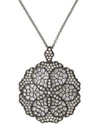 Effy - 14k White Gold Diamond Pendant Necklace - Lyst