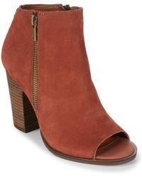 Lucky Brand - Lamija Leather Booties - Lyst