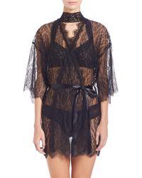 Hanky Panky - Alexandra Three-quarter Sleeve Lace Robe - Lyst