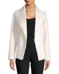 Ivanka Trump - Fringed Grid Jacket - Lyst