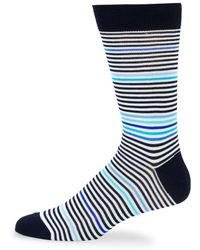 Bugatchi - Striped Crew Socks - Lyst