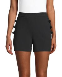 Carolina Herrera - Wool-blend Button Shorts - Lyst