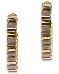 Saachi - Mosaic Glass Hoop Earrings - Lyst