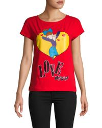 Love Moschino - Sequined Graphic Tee - Lyst