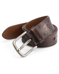 Saks Fifth Avenue - Collection Distressed Leather Belt - Lyst