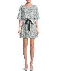 Moon River - Ribbon Floral Dress - Lyst