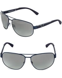Emporio Armani - Ea2036 64mm Square Aviator Sunglasses - Lyst