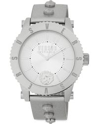 Versus - Studded Stainless Steel Leather-strap Watch - Lyst