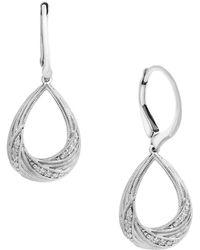 Effy - Pavé Classica Diamond And 14k White Gold Earrings - Lyst