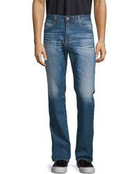 AG Jeans - Cotton-blend Faded Denim Pants - Lyst