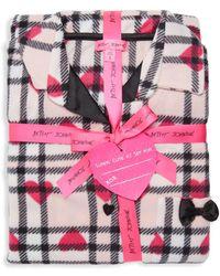 Betsey Johnson - Two-piece Heart & Plaid Pajama Set - Lyst