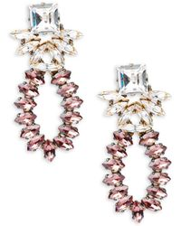 Tataborello - Swarovski Crystal Beaded Goldtone Drop Earrings - Lyst