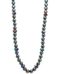 Heidi Daus - Oily Grey Mixed Beaded Long Strand Necklace - Lyst