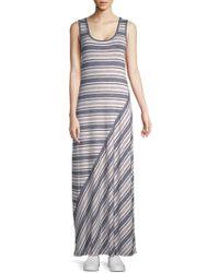 Max Studio - Sleeveless Striped Maxi Dress - Lyst