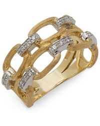 Marco Bicego - Diamond & 18k Yellow Gold Ring - Lyst