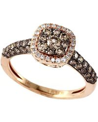 Effy - Espresso 14kt. Yellow Gold And Brown Diamond Ring - Lyst