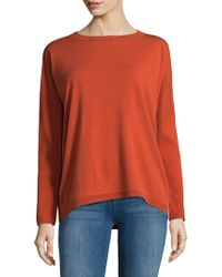 Lafayette 148 New York | Relaxed Bateau Neck Sweater | Lyst