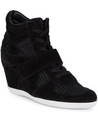 Ash - Bowie Mesh Wedge Trainers - Lyst