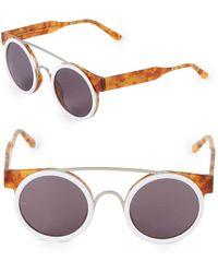 8767cb7c4b Smoke X Mirrors - Sodapop I 47mm Round Sunglasses - Lyst