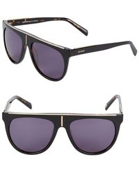Balmain - T-shaped Accent 57mm Aviator Sunglasses - Lyst