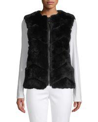 Belle Fare - Reversible Dyed Rabbit Fur Vest - Lyst