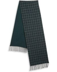 Saks Fifth Avenue - Collection By Johnstons Grid Scarf - Lyst