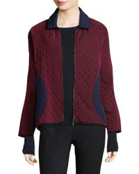 Becken - Colorblock Padded Bomber Jacket - Lyst