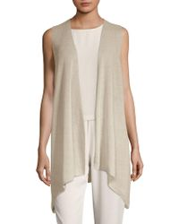 Eileen Fisher - Asymmetrical Open Vest - Lyst
