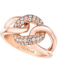Le Vian - Vanilla Diamond And 14k Strawberry Gold Ring - Lyst