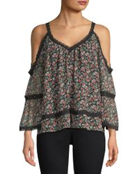 Rebecca Minkoff - Denueve Cold Shoulder Top - Lyst
