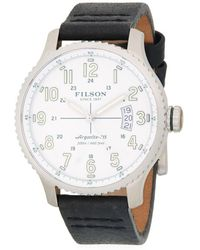 Filson - Mackinaw Stainless Steel And Leather-strap Watch - Lyst