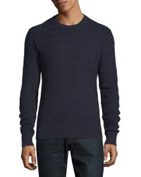 J.Lindeberg - Herringbone Cotton Sweater - Lyst