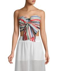 179a31647a683b Red Carter - Perth Striped Strapless Cropped Top - Lyst