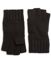 Portolano - Solid Knit Cashmere Gloves - Lyst