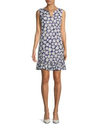 Karl Lagerfeld - Floral Jacquard Sheath Dress - Lyst
