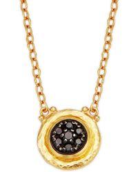 Gurhan - 24k Yellow Gold & Black Diamond Pendant Necklace - Lyst