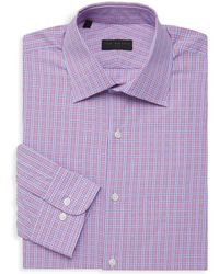 Ike By Ike Behar - Checkered Long-sleeve Dress Shirt - Lyst