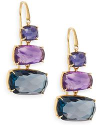 Marco Bicego - Murano Semi-precious Multi-stone & 18k Yellow Gold Drop Earrings - Lyst