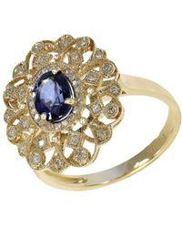 Effy - 14kt Sapphire And Diamond Ring - Lyst