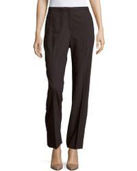 T Tahari - Diamond Solid Straight-fit Trousers - Lyst