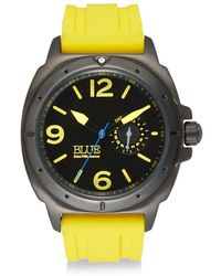 Saks Fifth Avenue - Stainless Steel & Silicone Strap Watch - Lyst