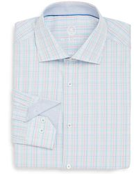 Bugatchi - Shaped-fit Multicolored Check Cotton Dress Shirt - Lyst