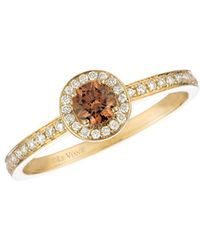 Le Vian - Chocolate Diamond Ring In 14 Kt. Honey Gold - Lyst