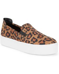 BCBGeneration - Casey Leopard Microsuede Trainers - Lyst