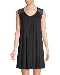 Carole Hochman - Lace-shoulder Sleep Dress - Lyst