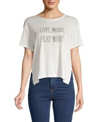 Nanette Lepore - Boxy-fit Graphic Tee - Lyst