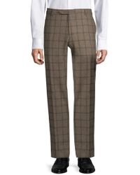 Zanella - Straight-fit Plaid Wool Pants - Lyst