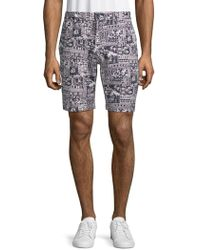 Slate & Stone - Printed French Terry Shorts - Lyst