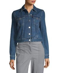 French Connection - Micro Western Denim Crop Jacket - Lyst
