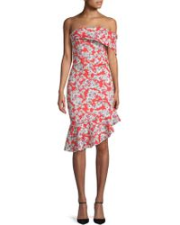 Alexia Admor - Floral Off-the-shoulder Asymmetrical Dress - Lyst